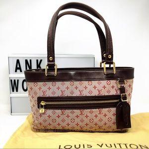 Louis Vuitton Lucille PM mini Lin monogram red bag